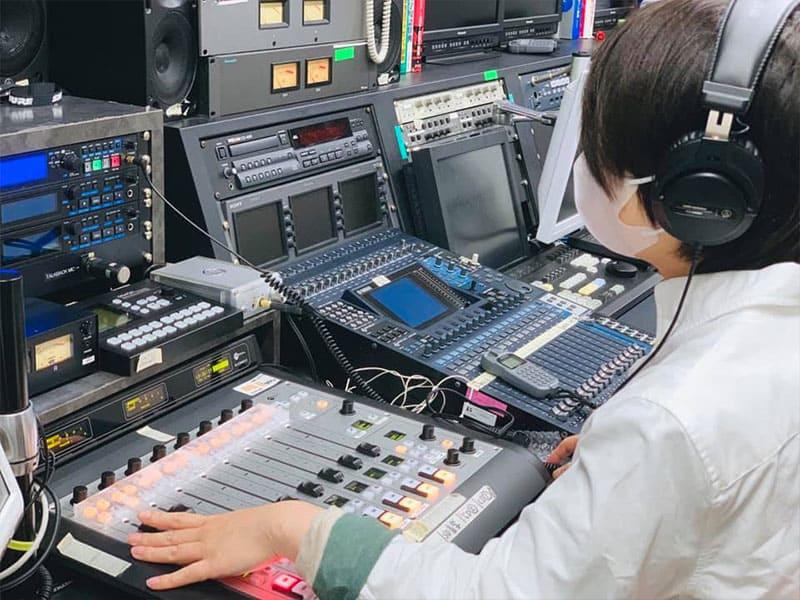 テレビ局で撮影