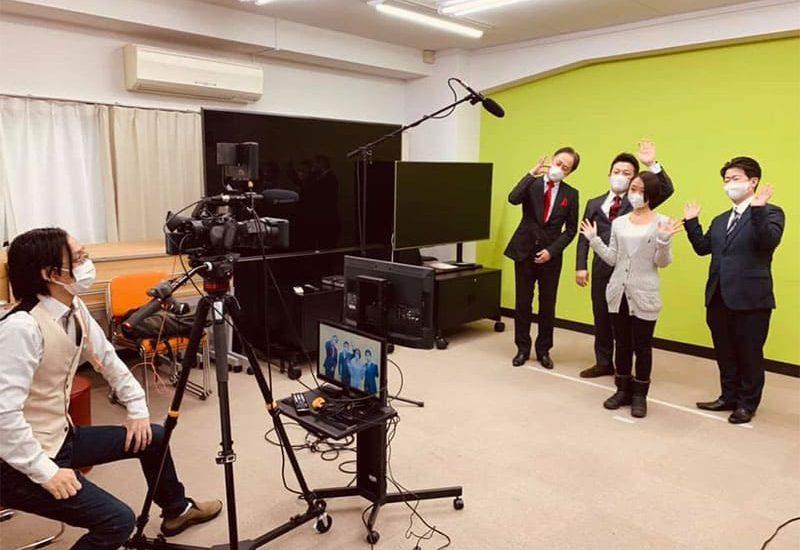 テレビの撮影